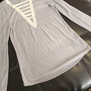 twenty two Tops - New w/o tags deep plunge ribbed top women's Large